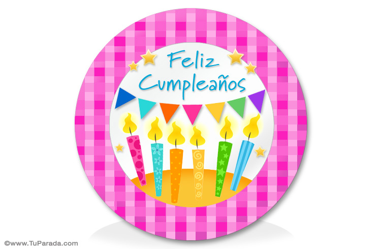 Tarjeta - Ideas con velas de cumpleaños
