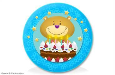 Oso con torta para adorno