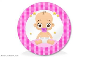 Adorno para bebés en rosa