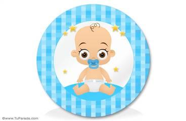 Adorno para bebés en celeste