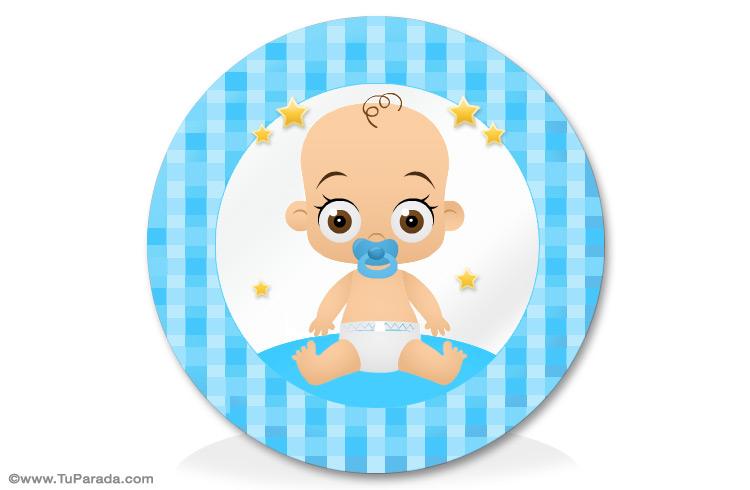 adorno para bebés en celeste manualidades para bebés tarjetas