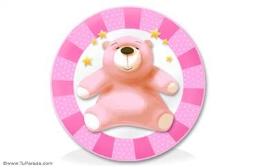 Oso rosa para niñas