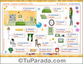 Vocabulario español - inglés: el dormitorio - the bedroom