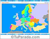 Mapa de Europa para completar