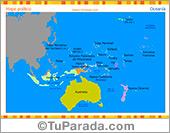 Mapa de Oceanía político