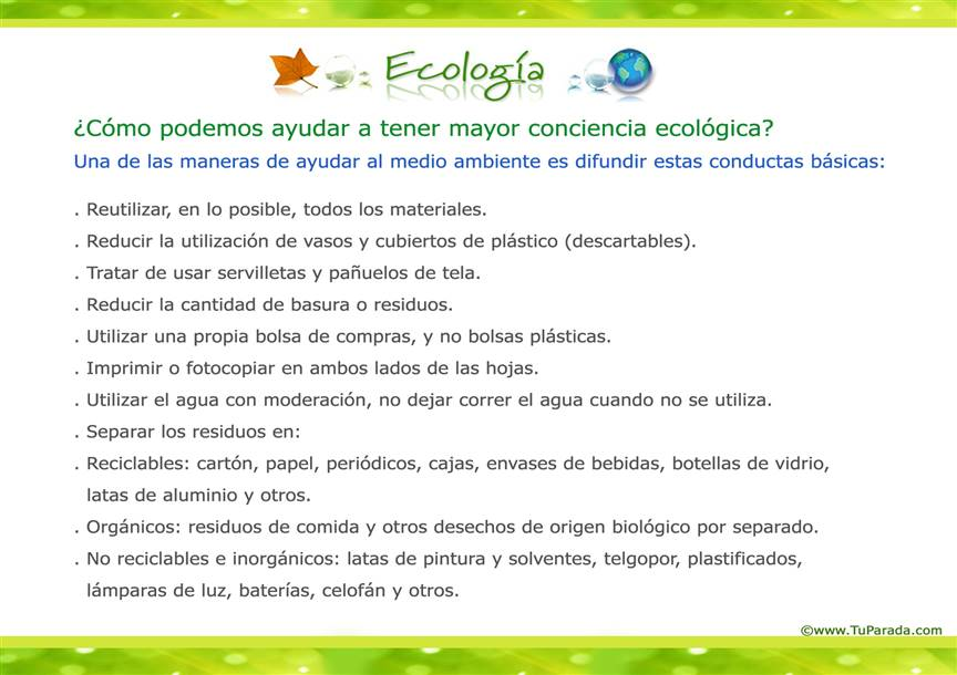 Conductas ecológicas
