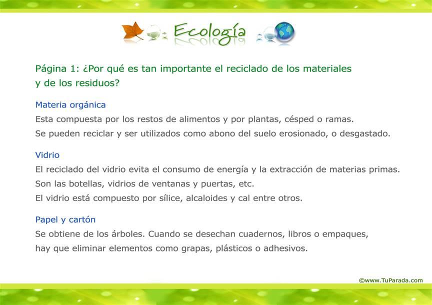 Tarjeta de Ecología