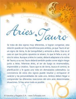Aries con Tauro