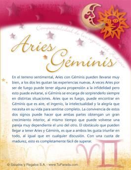 Aries con Géminis