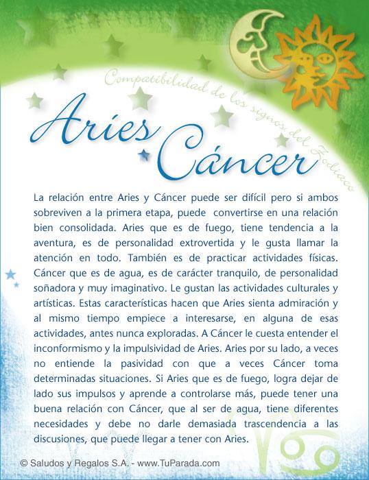 Tarjeta - Aries con Cancer