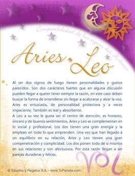 Aries con Leo