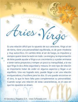 Aries con Virgo