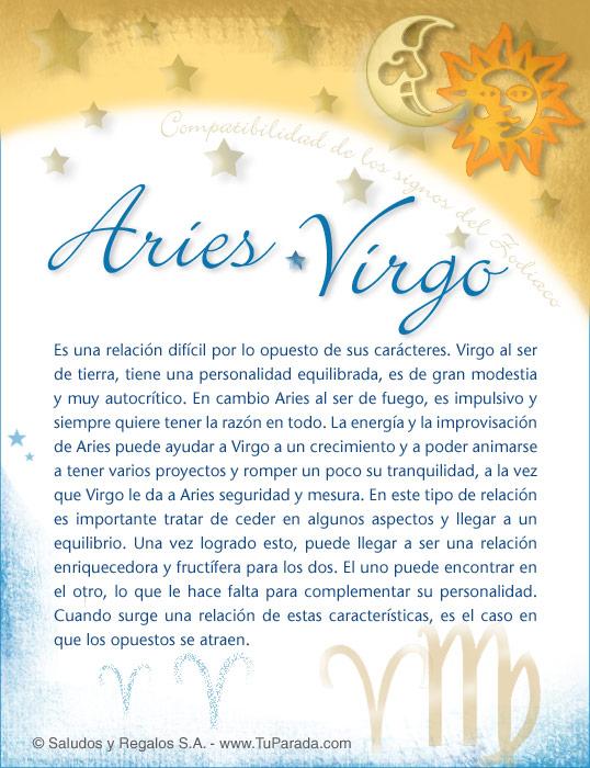 Tarjeta - Aries con Virgo