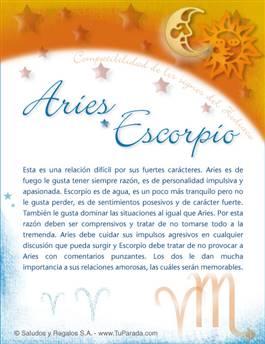 Aries con Escorpio