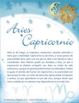 Aries con Capricornio