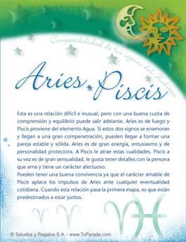 Aries con Piscis