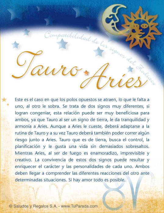 Tarjeta - Tauro con Aries