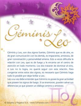 Géminis con Leo