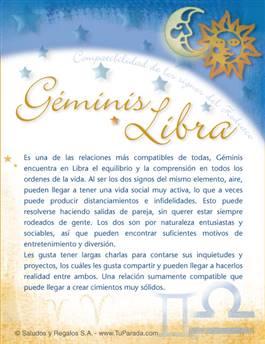 Géminis con Libra