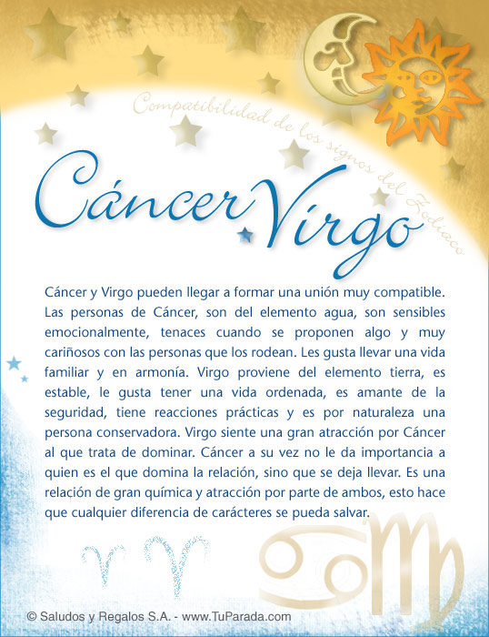 Cancer Con Virgo