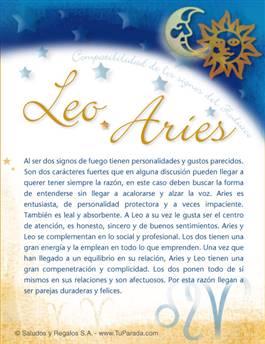 Leo con Aries
