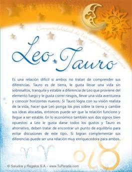 Leo con Tauro