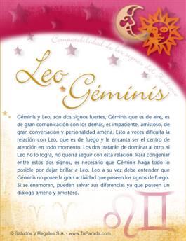 Leo con Géminis