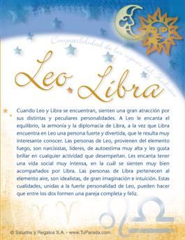 Leo con Libra