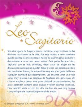Leo con Sagitario