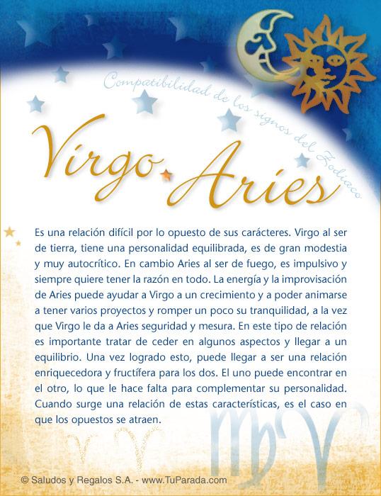 Tarjeta - Virgo con Aries