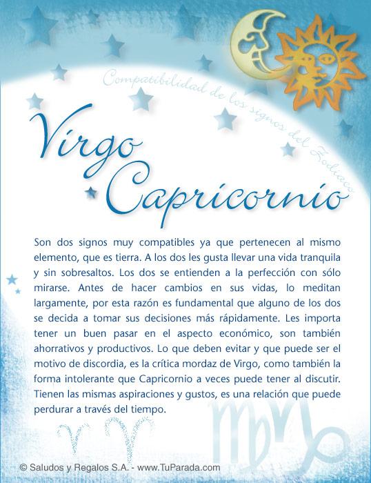 Tarjeta - Virgo con Capricornio