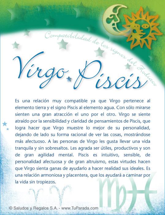 Tarjeta - Virgo con Piscis