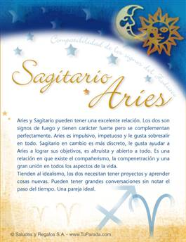 Sagitario con Aries
