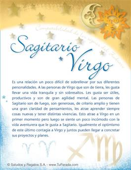 Sagitario con Virgo