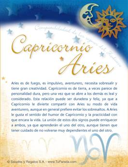 Capricornio con Aries