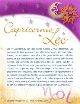 Capricornio con Leo