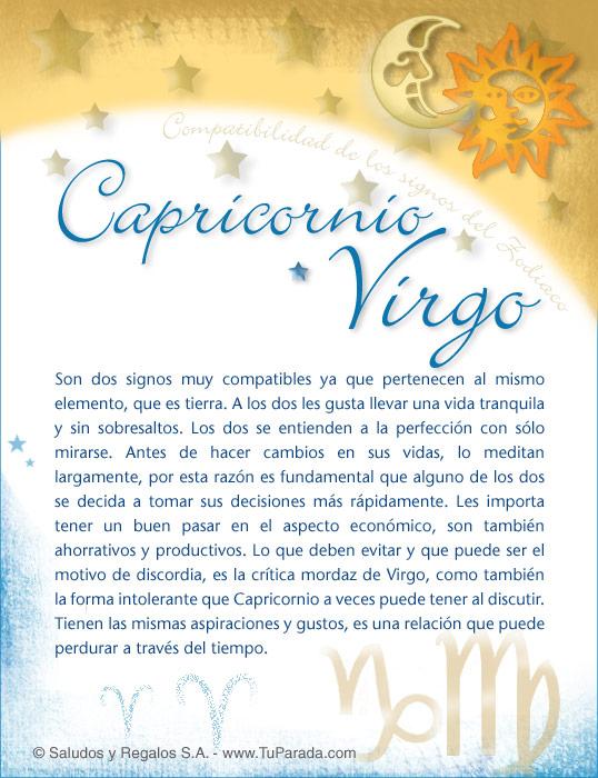 Tarjeta - Capricornio con Virgo