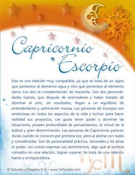 Capricornio con Escorpio