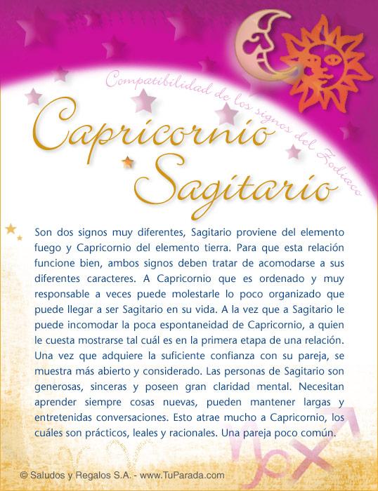Tarjeta - Capricornio con Sagitario