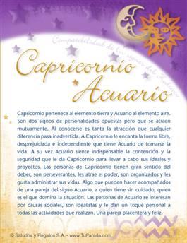 Capricornio con Acuario