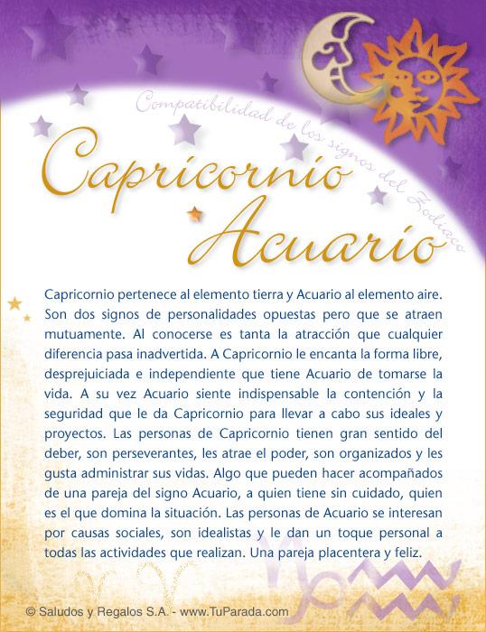 Tarjeta - Capricornio con Acuario