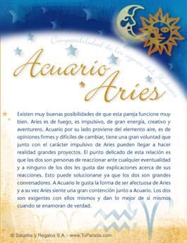 Acuario con Aries