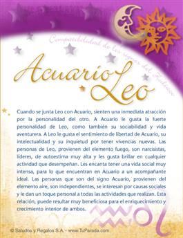 Acuario con Leo