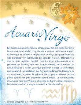 Acuario con Virgo