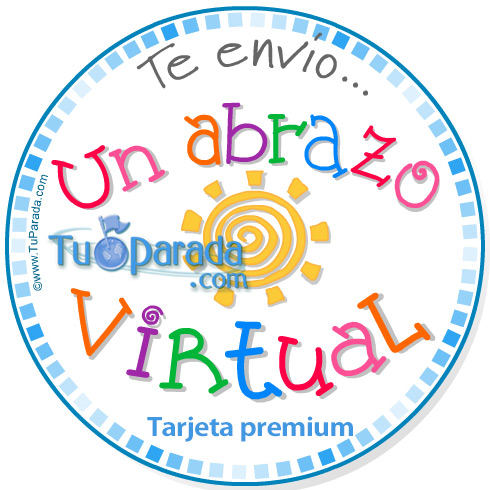 Tarjeta - Un abrazo virtual