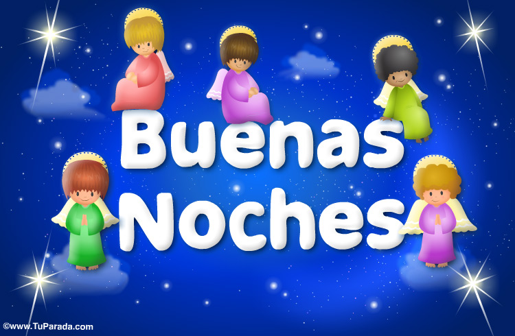 Tarjeta - Buenas Noches con ángeles