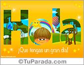 Tarjetas, postales: Tarjeta de Hola