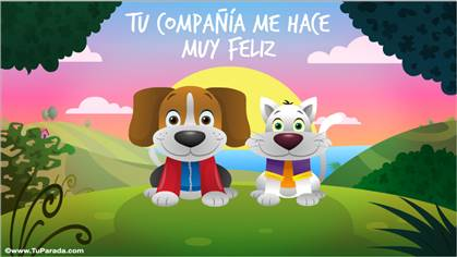 Tarjeta de Gatos