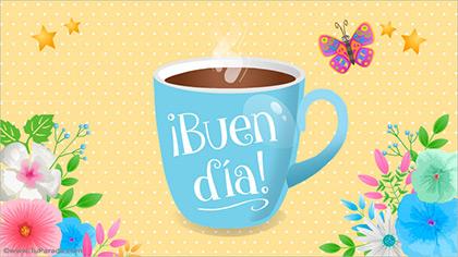 Buen día con taza