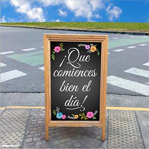 Tarjeta de saludos en cartel